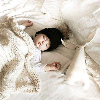 Child Blanketboys and Girls Knitted Blanket Love Wool Quilts -  WHITE