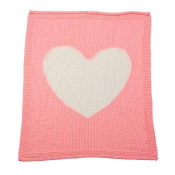 Child Blanketboys and Girls Knitted Blanket Love Wool Quilts - PINK PINK