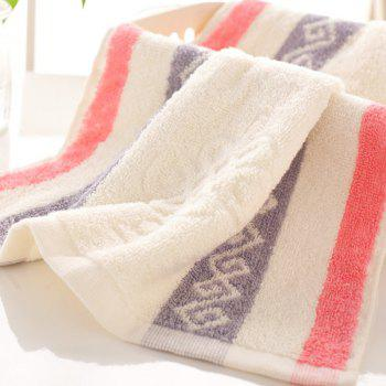 1Pc Face Towel Classic Modern Colored Sides Supper Comfy Towel - PINK PINK