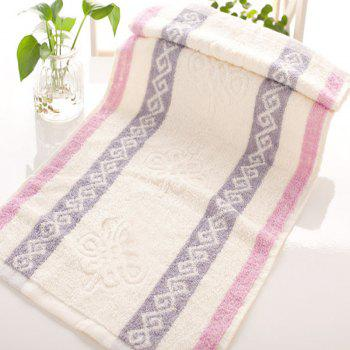 1Pc Face Towel Classic Modern Colored Sides Supper Comfy Towel - PURPLE PURPLE