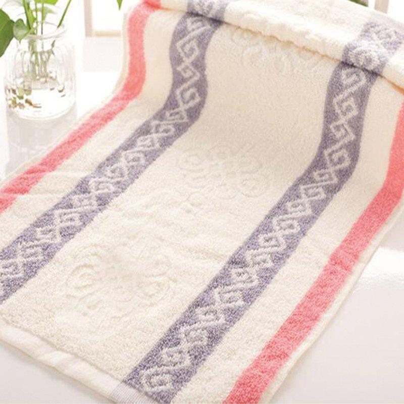 1Pc Face Towel Classic Modern Colored Sides Supper Comfy Towel - PINK 33CM X 74CM
