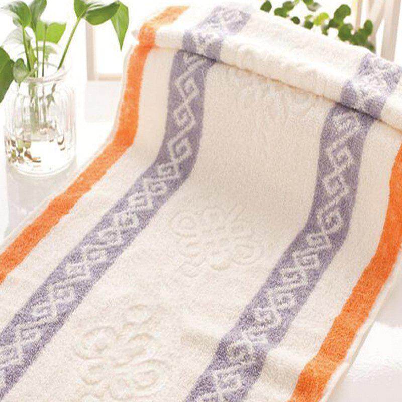 1Pc Face Towel Classic Modern Colored Sides Supper Comfy Towel - ORANGE 33CM X 74CM