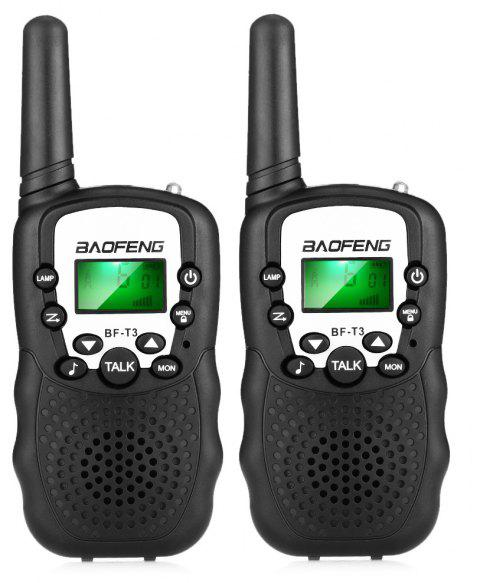 BAOFENG BF - T3 8-channel Wireless Walkie Talkie 2PCS ( EU Version ) - BLACK