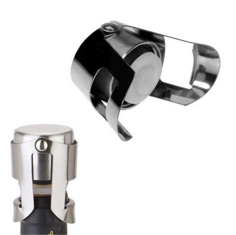 New Hot Stainless Steel Champagne Sparkling Wine Bottle Stopper Sealing Machine Bar Accessories Wine Stopper Accessories - SILVER
