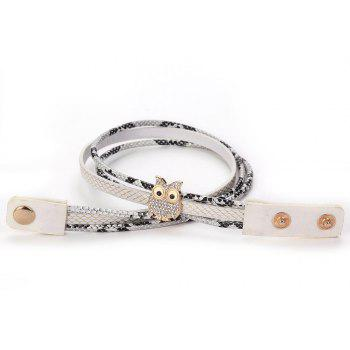 GS036 Woman Owl Serpentine Winding Bracelet - WHITE