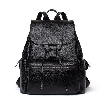 HMILY Backpack Female Genuine Leather Women Dayback