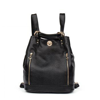 HMILY Genuine Leather Backpack Female Sweet Style