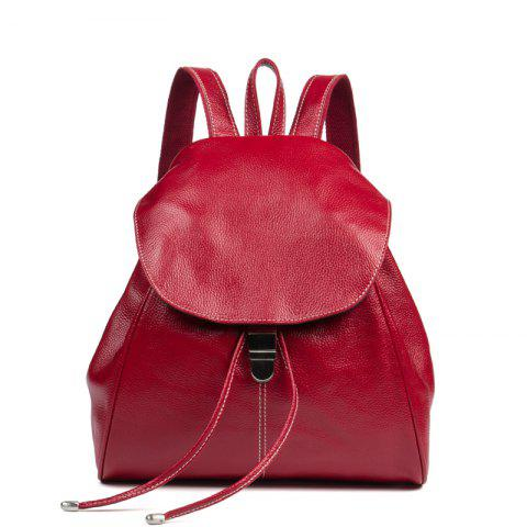 HMILY Women Backpack Genuine Leather Female Daypack Real Leather Travel Bag  Ladies Large Capacity Student School a0cf6091522cb