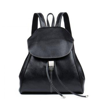 HMILY Women Backpack Genuine Leather Female Daypack