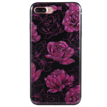Cas pour iPhone 8 Plus Diamond Purple Rose Motif Téléphone portable Shell de protection - Pourpre