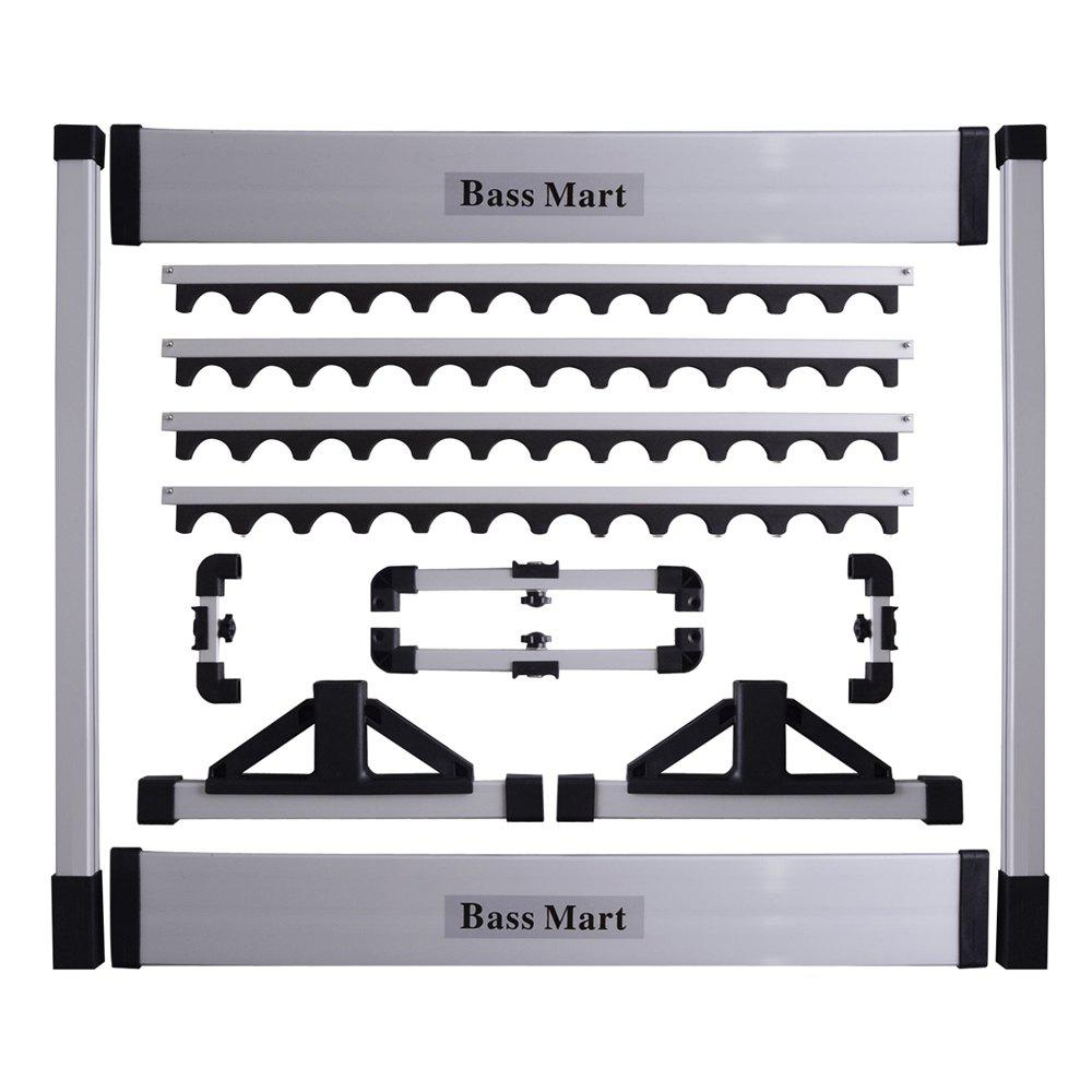 Fishing Rod Rack Up to 24 Cases - SILVER BLACK