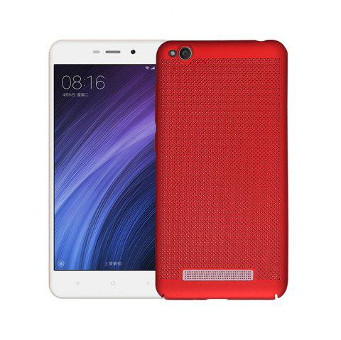 Cover Case for Redmi 4A Luxury Heat Dissipation Ultra Thin Matte hard PC - RED