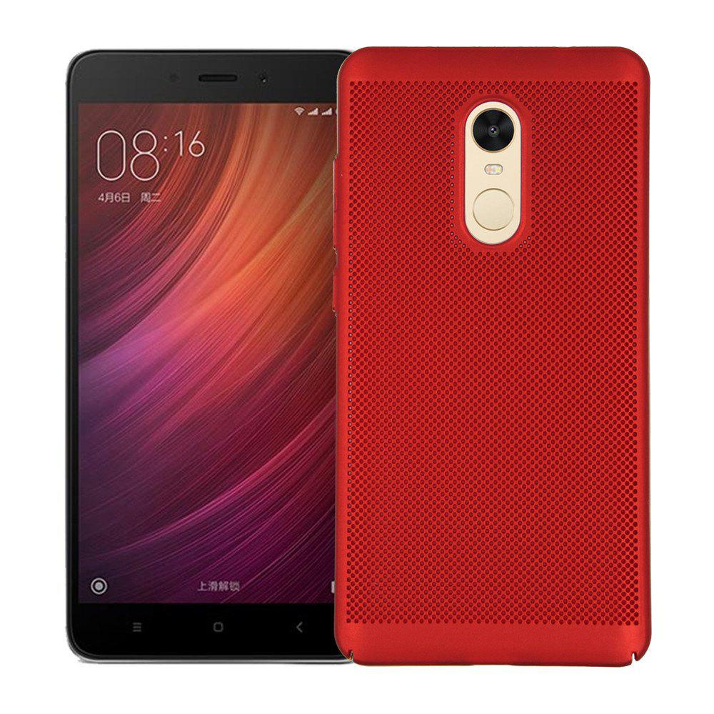 Cover Case for Redmi Note 4X / 4 Luxury Heat Dissipation Ultra Thin Matte Hard PC - RED