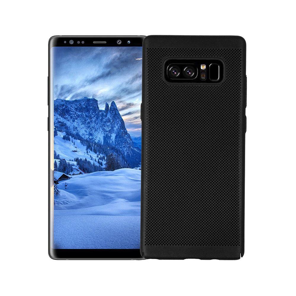 Cover Case for Samsung Galaxy Note 8 Luxury Heat Dissipation Ultra Thin Matte Hard PC - BLACK