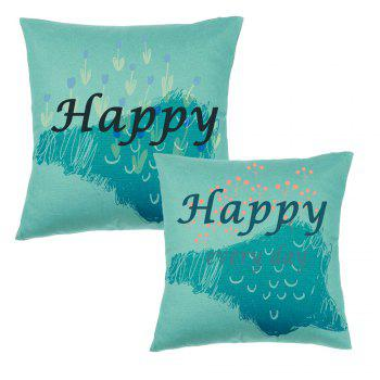 Simple Modern Alphanumeric Printing Pattern Pillow Covers - COLORMIX 16INCH X 16INCH