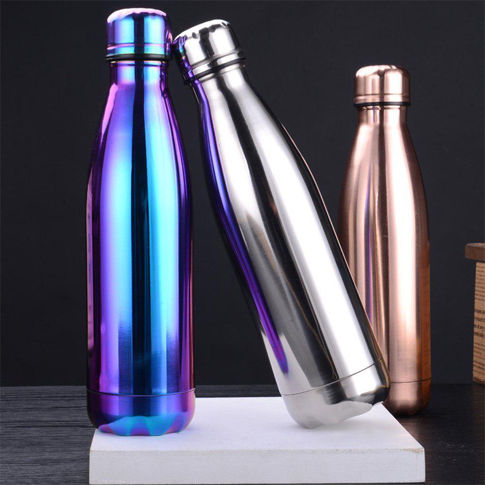Fashion 4 Colors 500ML Stainless Steel Insulated Cup Coffee Tea Thermos Mug Thermal Bottle Thermocup Travel Drink Bottle - SILVER