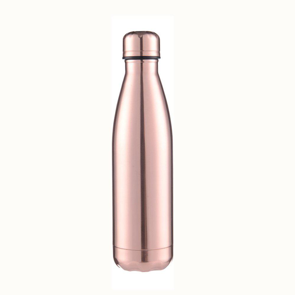 Fashion 4 Colors 500ML Stainless Steel Insulated Cup Coffee Tea Thermos Mug Thermal Bottle Thermocup Travel Drink Bottle - ROSE GOLD