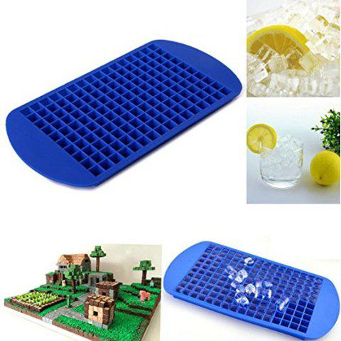 Cake Mould 160 Ice Cubes Frozen Cube Bar Pudding Silicone Tray Mould Mold Tool - BLUE