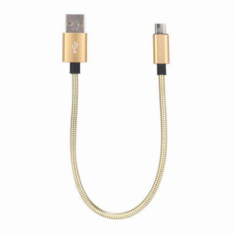 Metal Spring Charging Cable for Samsung,Xiaomi,HUAWEI USB Color Gradient Data for Android USB Charger - GOLDEN