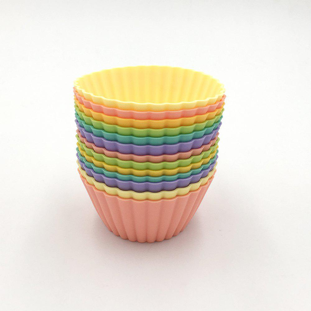 Jumbo Size Food Grade Silicone Baking Cups Cupcake Liners Non Stick Silicone Cupcake Cups Truffle Cups - 13PCS 6 Colors 251434901