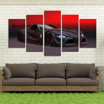 Red Sky Luxury Sports Car Living Room Decoration Painting Bedroom Painting -  COLORFUL