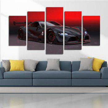 Red Sky Luxury Sports Car Living Room Decoration Painting Bedroom Painting - COLORFUL COLORFUL