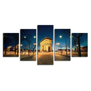 The Arc DE Triomphe Street View Parlour Decorative Painting Bedroom Painting -  COLORFUL
