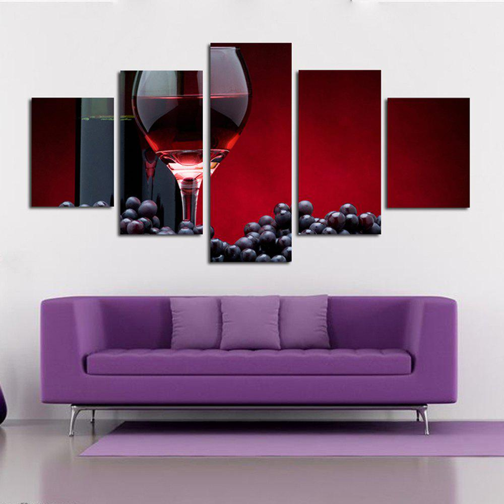 Red Wine and Wine and Wine Glass and Grape Living Room Decoration Painting Bedroom Painting - COLORFUL