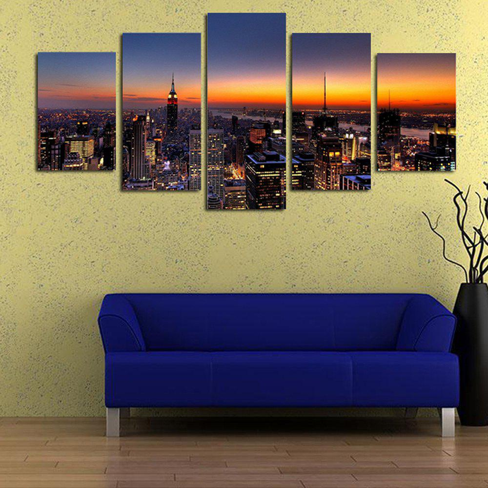 Sunset City Panoramic Living Room Decoration Painting Bedroom Painting    COLORFUL