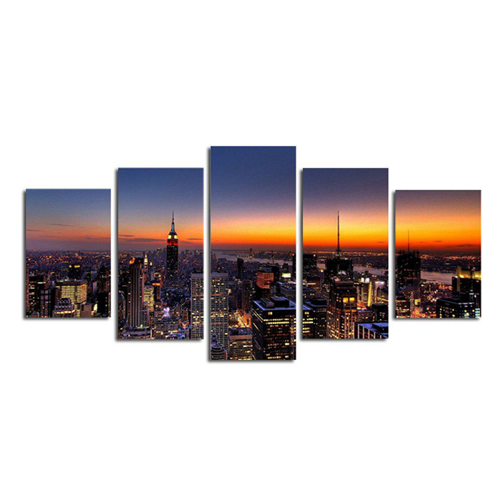 Sunset City Panoramic Living Room Decoration Painting Bedroom Painting - COLORFUL