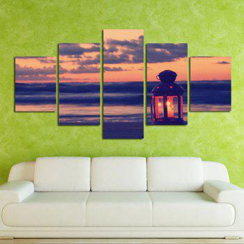 The Seaside of The Small Lantern Living Room Decoration Painting Bedroom Painting - COLORFUL