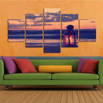 The Seaside of The Small Lantern Living Room Decoration Painting Bedroom Painting - COLORFUL COLORFUL