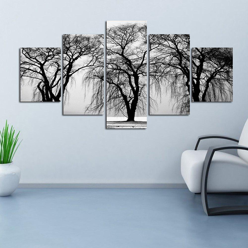Grey Background 3 Dead Tree Sitting Room Decoration Painting Bedroom Painting - COLORFUL