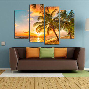 The Seaside Sunset Coconut Tree Parlour Decoration Painting Bedroom Painting - COLORFUL COLORFUL
