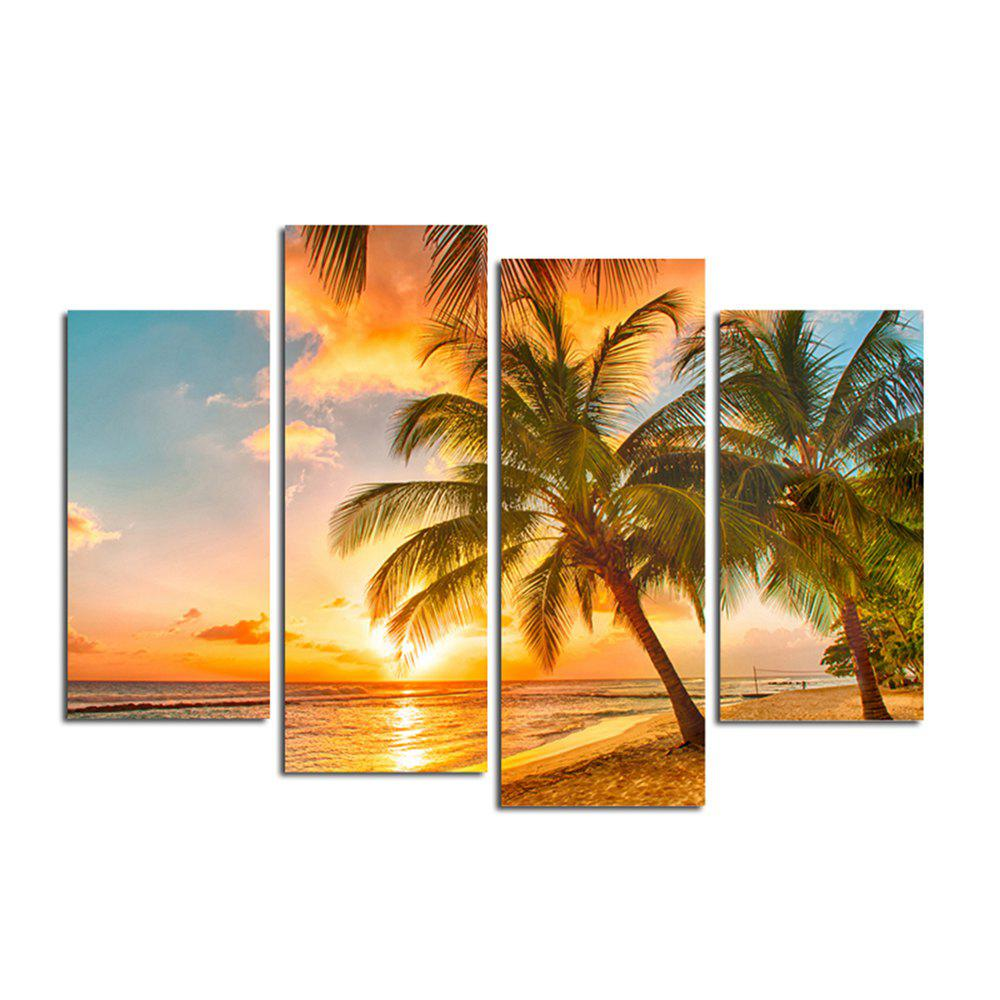 The Seaside Sunset Coconut Tree Parlour Decoration Painting Bedroom Painting - COLORFUL