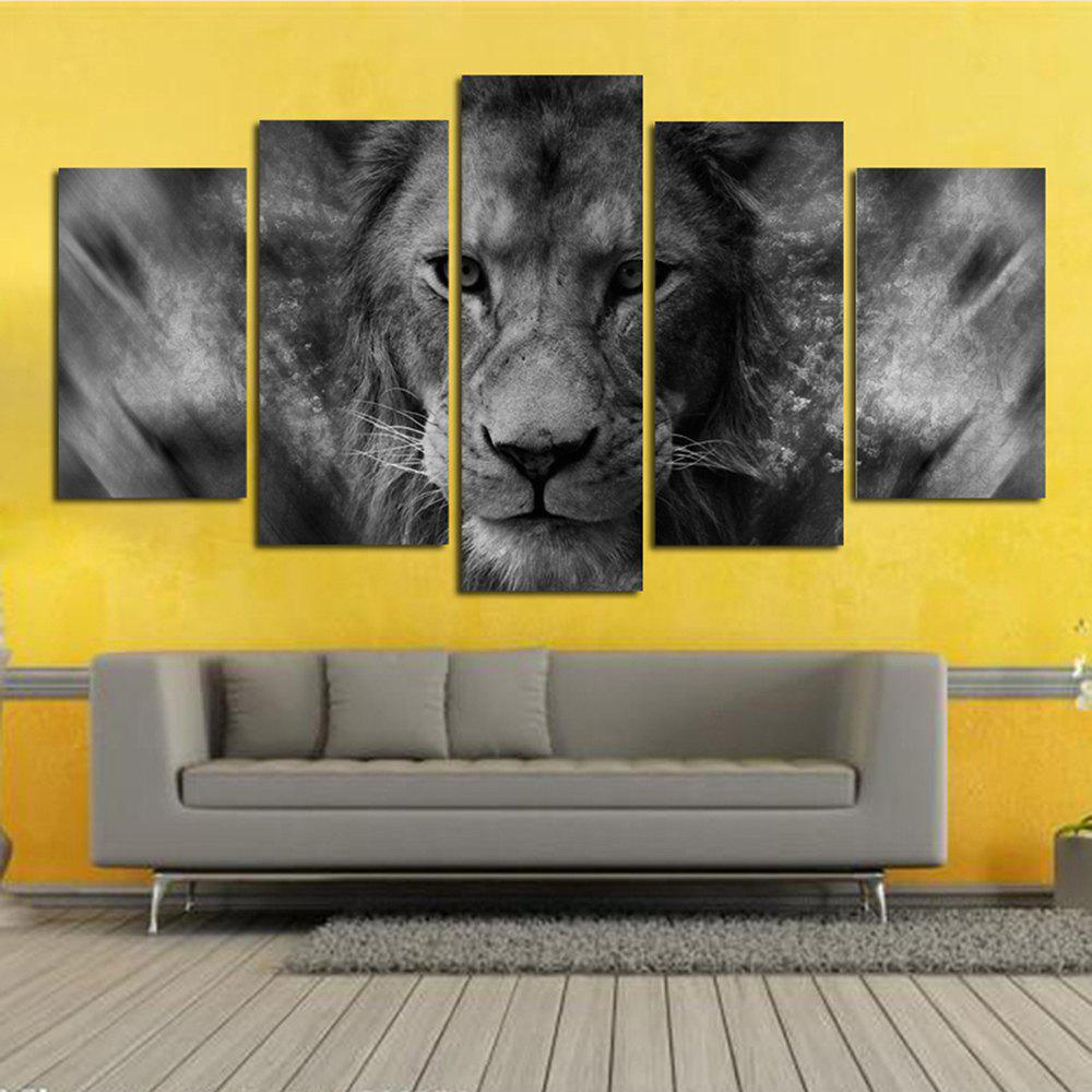 2018 Black Background Lion Stare At The Living Room Decoration ...