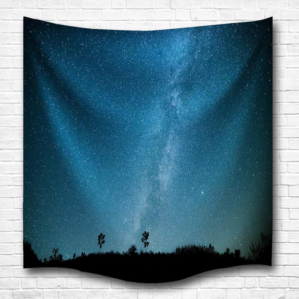 Stars Sky 3D Digital Printing Home Wall Hanging Nature Art Fabric Tapestry for Bedroom Living Room Decorations high quality led modern minimalist crystal pendant lamp light luxury living room bedroom art creative restaurant hanging lights