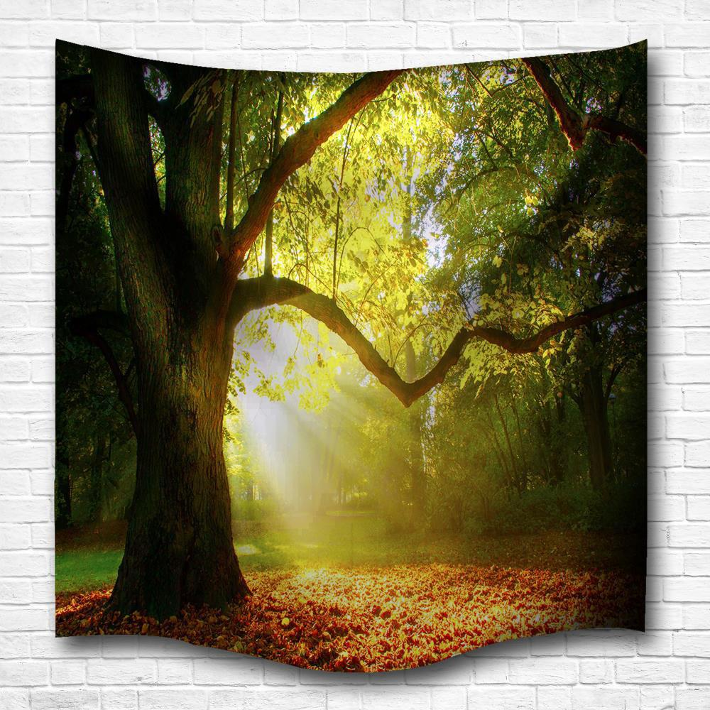 2018 The Tree Light 3D Digital Printing Home Wall Hanging Nature Art ...