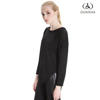 Essar Autumn and Winter Thin Leisure  Loose Collar Movement Long Sleeved  Sportswear - BLACK M