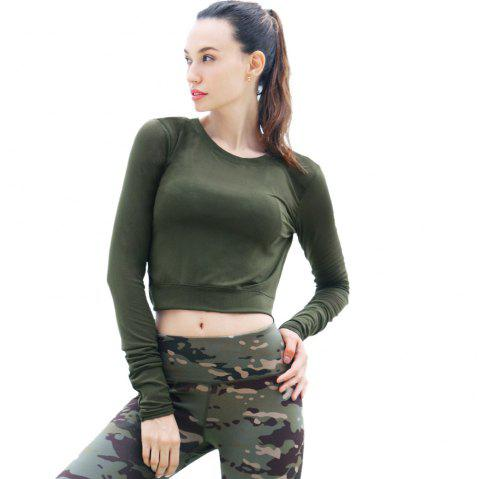 Essar Light Fitness Loose Sport T-Shirt - ARMYGREEN L