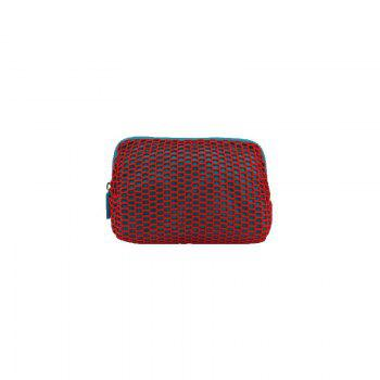 Mesh cosmetic bag useful bag for woman high quality make up - TURQUOISE BLUE TURQUOISE BLUE