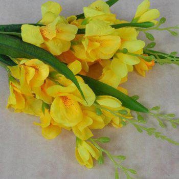 Artificial Flowers Vivid Yellow Gladiolus Bouquet Home Decorative Display - YELLOW 40CM X 12CM