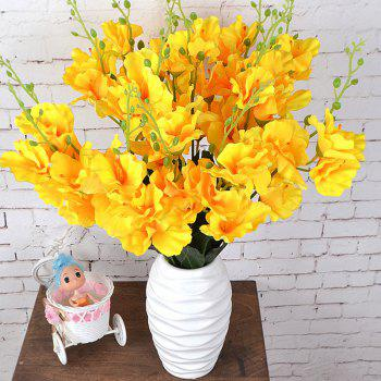 Artificial Flowers Vivid Yellow Gladiolus Bouquet Home Decorative Display - YELLOW YELLOW