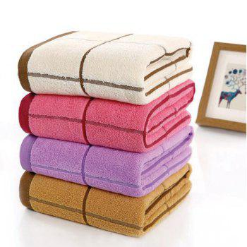 One Piece Bath Towel Classic Simple Plaids Pattern Thick Soft Cozy Shower Towel - RED RED