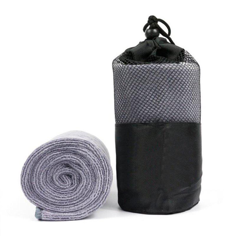 1 Piece Sports Towel Portable Pack Sweat Absorbent Fast Drying Sport Accessory - GRAY 30CM X 110CM