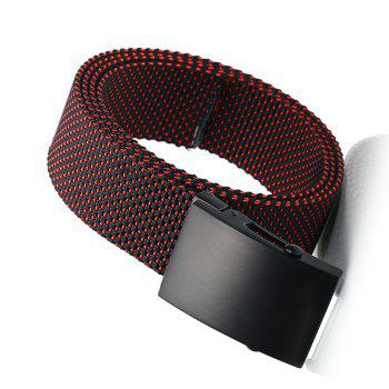Fashion Adjustable Military Casual Nylon Spots Waist Belt with Metal Buckle Outdoor Sport -  RED
