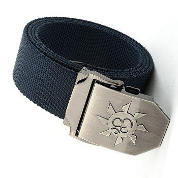 Fahsion Sun Shape Adjustable Multi-Function Tactical Military Nylon Waist Belt with Metal Buckle - BLUE