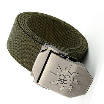 Fahsion Sun Shape Adjustable Multi-Function Tactical Military Nylon Waist Belt with Metal Buckle - ARMY GREEN