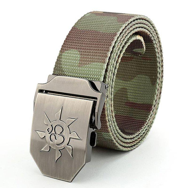 Fahsion Sun Shape Adjustable Multi-Function Tactical Military Nylon Waist Belt with Metal Buckle - JUNGLE CAMOUFLAGE
