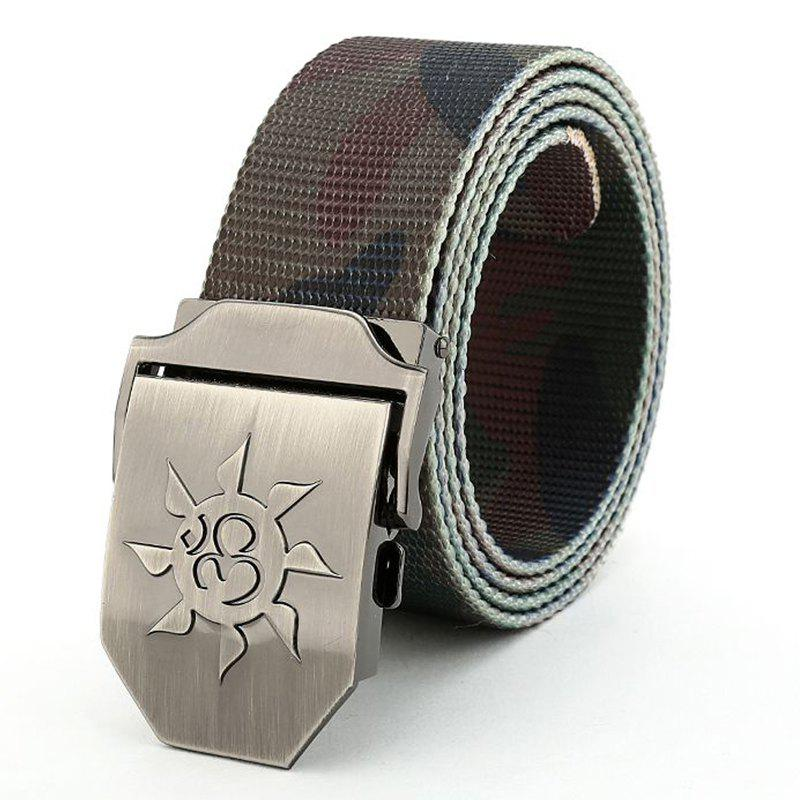 Fahsion Sun Shape Adjustable Multi-Function Tactical Military Nylon Waist Belt with Metal Buckle - CAMOUFLAGE